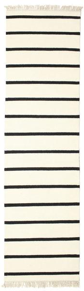 Dorri Stripe - Wit/Zwart Vloerkleed 80X300 Echt Modern Handgeweven Tapijtloper Beige/Wit/Creme (Wol, India)