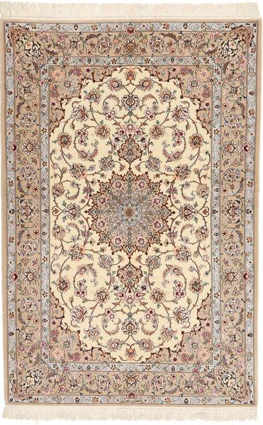 Isfahan Zijden Pool Davudi Vloerkleed 130X202 Echt Oosters Handgeknoopt Beige/Lichtgrijs (Wol/Zijde, Perzië/Iran)
