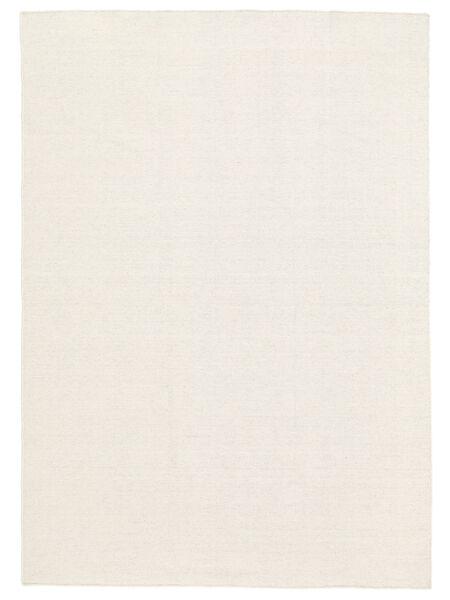 Kelim Loom - Gebroken Wit Vloerkleed 160X230 Echt Modern Handgeweven Beige (Wol, India)