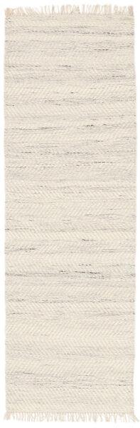 Chinara - Natural/Wit Vloerkleed 80X250 Echt Modern Handgeweven Tapijtloper Beige (Wol, India)