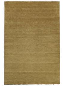 Handloom Fringes - Olijfgroen Vloerkleed 200X300 Modern Bruin/Olijfgroen (Wol, India)