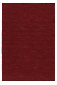 Kelim Loom - Donkerrood Vloerkleed 250X350 Echt Modern Handgeweven Roestkleur/Rood Groot (Wol, India)