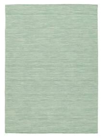 Kelim Loom - Mint Groen Vloerkleed 140X200 Echt Modern Handgeweven Pastel Groen/Turquoise Blauw (Wol, India)