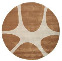 Stones Handtufted - Bruin Vloerkleed Ø 150 Modern Rond Bruin/Lichtgrijs (Wol, India)