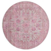 Maharani - Grijs/Roze Vloerkleed Ø 150 Modern Rond Lichtroze ( Turkije)