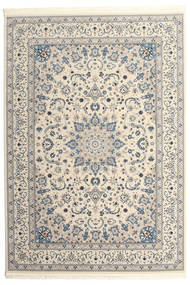 Nain Emilia - Cream/Licht Blauw Vloerkleed 250X350 Oosters Lichtgrijs/Beige Groot ( Turkije)