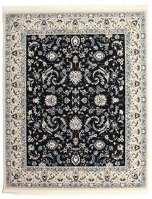 Nain Florentine - Donkerblauw Vloerkleed 250X300 Oosters Lichtgrijs/Zwart Groot ( Turkije)
