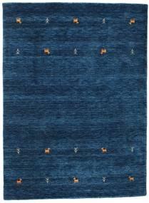 Gabbeh Loom Two Lines - Donkerblauw Vloerkleed 140X200 Modern Donkerblauw (Wol, India)