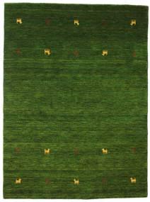 Gabbeh Loom Two Lines - Groen Vloerkleed 140X200 Modern Donkergroen (Wol, India)