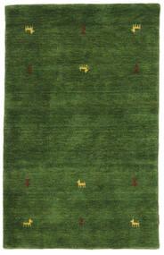 Gabbeh Loom Two Lines - Groen Vloerkleed 100X160 Modern Donkergroen (Wol, India)