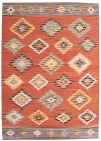 Kelim Denizli Vloerkleed 160X230 Echt Modern Handgeweven Oranje/Rood (Wol, India)