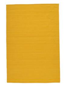 Kelim Loom - Geel Vloerkleed 160X230 Echt Modern Handgeweven Oranje/Geel (Wol, India)