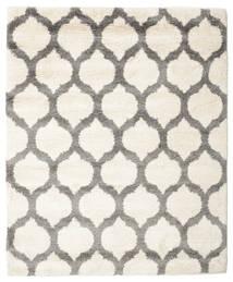 Berber Shaggy Illusia - Gebroken Wit/Grijs Vloerkleed 200X200 Modern Vierkant Beige/Lichtgrijs ( Turkije)