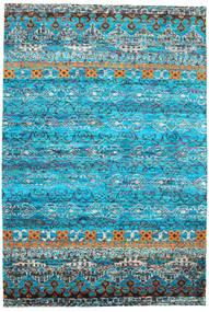 Quito - Turkoois Vloerkleed 190X290 Echt Modern Handgeknoopt Turquoise Blauw/Blauw (Zijde, India)