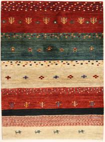 Loribaft Perzisch Vloerkleed 102X140 Echt Modern Handgeknoopt Rood/Donkergroen (Wol, Perzië/Iran)