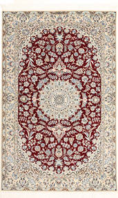 Nain 6La Habibian Vloerkleed 120X190 Echt Oosters Handgeknoopt Lichtgrijs/Donkerrood/Beige (Wol/Zijde, Perzië/Iran)
