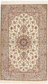 Isfahan Zijden Pool Vloerkleed 130X212 Echt Oosters Handgeknoopt Beige/Bruin (Wol/Zijde, Perzië/Iran)