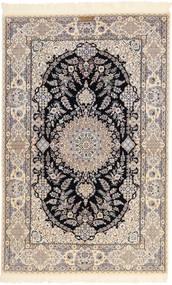 Nain 6La Habibian Vloerkleed 131X204 Echt Oosters Handgeknoopt Lichtgrijs/Beige (Wol/Zijde, Perzië/Iran)