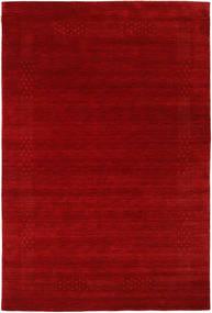 Loribaf Loom Beta - Rood Vloerkleed 190X290 Modern Donkerrood/Roestkleur (Wol, India)