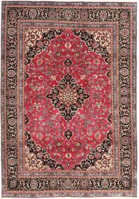 Mashad Patina Vloerkleed 195X278 Echt Oosters Handgeknoopt Donkerrood/Roestkleur (Wol, Perzië/Iran)