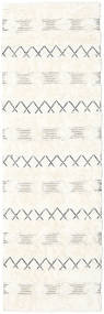 Shedir - Wit Vloerkleed 80X250 Echt Modern Handgeweven Tapijtloper Beige/Geel (Wol, India)