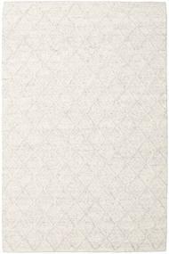 Rut - Ijsgrijs Melange Vloerkleed 200X300 Echt Modern Handgeweven Wit/Creme/Donkerbeige/Beige (Wol, India)