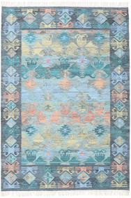 Azteca - Blauw Mix Vloerkleed 160X230 Echt Modern Handgeweven Lichtblauw/Lichtgrijs (Wol, India)