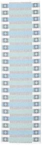 Buitenvloerkleed Tradition - Blauw/Groen Vloerkleed 70X200 Modern Tapijtloper Lichtblauw/Beige ( Zweden)