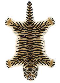 Tiger - Beige Vloerkleed 100X160 Modern Donkerblauw/Lichtbruin (Wol, India)