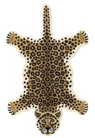 Leopard - Beige Vloerkleed 100X160 Modern Zwart/Lichtbruin/Beige (Wol, India)