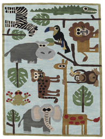 Zoo Handtufted Vloerkleed 120X180 Modern Lichtblauw/Lichtgrijs (Wol, India)