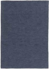 Kelim Loom - Denim Blauw Vloerkleed 160X230 Echt Modern Handgeweven Blauw (Wol, India)