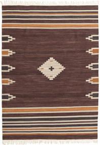 Tribal - Bruin Vloerkleed 160X230 Echt Modern Handgeweven Donkerbruin/Donkerrood (Wol, India)