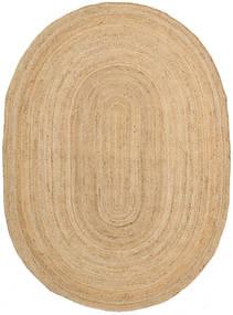 Buitenvloerkleed Frida Oval - Natural Vloerkleed 140X200 Echt Modern Handgeweven Donkerbeige/Beige (Jute Vloerkleed India)
