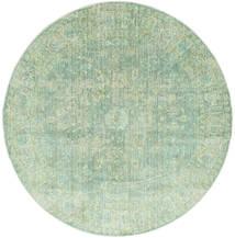 Maharani - Groen Vloerkleed Ø 200 Modern Rond Pastel Groen ( Turkije)