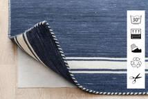 Anti Slip, Non-Woven Vloerkleed 80X300 Modern Tapijtloper Blauw/Lichtgrijs ( België)