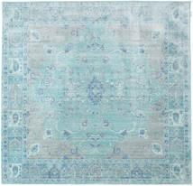 Maharani - Blauw Vloerkleed 200X200 Modern Vierkant Lichtblauw/Turquoise Blauw ( Turkije)