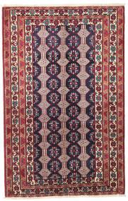 Beluch Patina Vloerkleed 132X206 Echt Oosters Handgeknoopt Donkerpaars/Beige (Wol, Perzië/Iran)