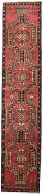 Ardebil Patina Vloerkleed 81X385 Echt Oosters Handgeknoopt Tapijtloper Donkerrood/Zwart (Wol, Perzië/Iran)