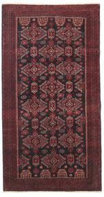 Beluch Patina Vloerkleed 95X177 Echt Oosters Handgeknoopt Donkerrood/Zwart/Donkerbruin (Wol, Perzië/Iran)