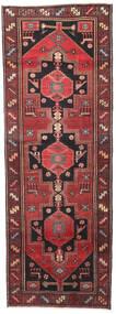 Hamadan Patina Vloerkleed 102X287 Echt Oosters Handgeknoopt Tapijtloper Donkerrood/Zwart (Wol, Perzië/Iran)
