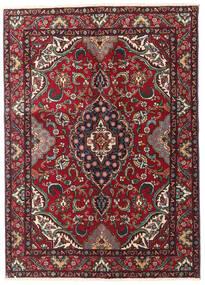 Tabriz Vloerkleed 135X190 Echt Oosters Handgeknoopt Donkerrood/Zwart (Wol, Perzië/Iran)
