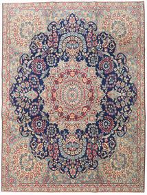 Kerman Patina Vloerkleed 230X305 Echt Oosters Handgeknoopt Lichtgrijs/Donkerbeige (Wol, Perzië/Iran)