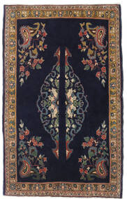 Ghom Kork/Zijde Vloerkleed 73X120 Echt Oosters Handgeknoopt Donkerpaars/Donkerrood (Wol/Zijde, Perzië/Iran)
