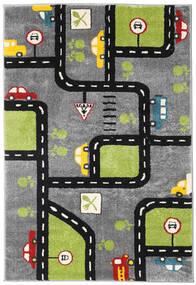 City Roads Vloerkleed 120X180 Modern Donkerbruin/Zwart ( Turkije)