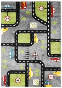 City Roads Vloerkleed 160X230 Modern Donkergrijs/Lichtgrijs/Zwart ( Turkije)