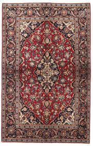 Keshan Vloerkleed 137X218 Echt Oosters Handgeknoopt Donkerrood/Zwart (Wol, Perzië/Iran)