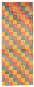 Gabbeh Perzisch Vloerkleed 78X207 Echt Modern Handgeweven Tapijtloper Oranje/Lichtbruin (Wol, Perzië/Iran)