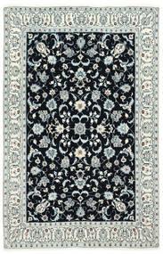 Nain 6La Vloerkleed 130X200 Echt Oosters Handgeknoopt Donkerblauw/Beige (Wol/Zijde, Perzië/Iran)