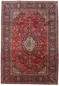 Keshan Vloerkleed 201X296 Echt Oosters Handgeknoopt Donkerrood/Donkerblauw (Wol, Perzië/Iran)